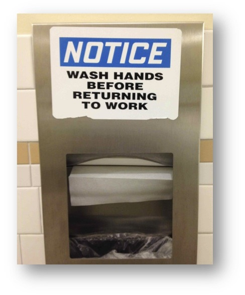 Wash hands notice